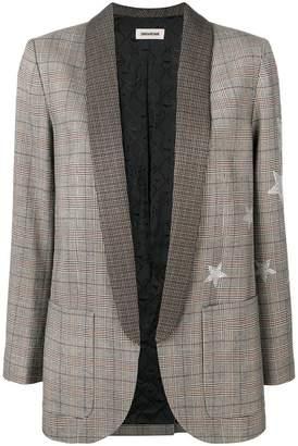 Zadig & Voltaire Zadig&Voltaire star print check blazer