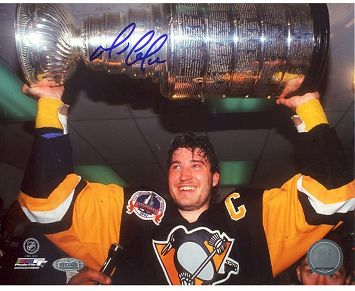 Steiner Sports Mario Lemieux Stanley Cup Overhead 16'' x 20'' Signed Photo