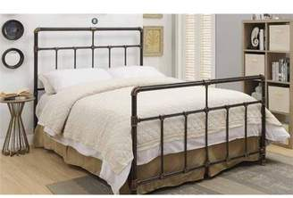Silas Coaster Company Twin Bed in Black Antique Brass