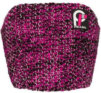 Prada Knickerbocker tweed bustier top