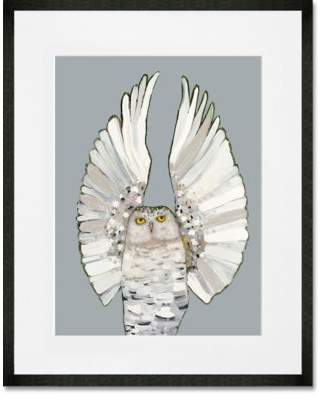 GreenBox Art 'Owl Ballet - Neutral' Print