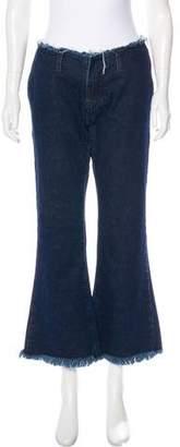 Marques Almeida Marques' Almeida Mid-Rise Wide-Leg Jeans