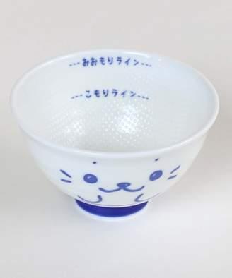 Mother garden しろたん くっつきにくい大盛茶碗 顔ボン柄 406-86656(C)FDB