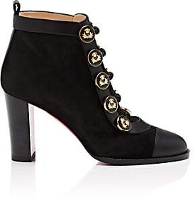 Christian Louboutin Women's Cavel Suede Ankle Boots - Black