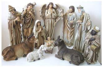 Asstd National Brand Nativity Set