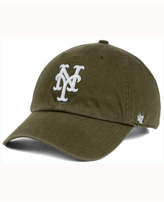 '47 New York Mets Olive White Clean Up Cap