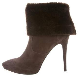 Cesare Paciotti Shearling-Trimmed Ankle Boots