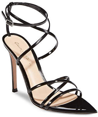 Gianvito Rossi Vernice Leather Ankle-Strap Sandals