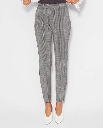 Express Mid Rise Plaid Curve Pant