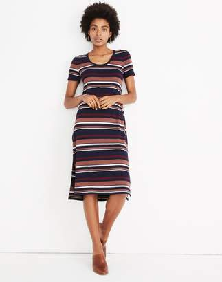 Madewell Striped U-Neck Tee Dress
