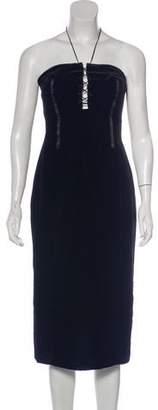 Tom Ford Velvet Strapless Dress w/ Tags