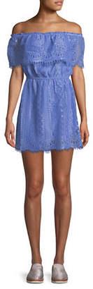BB Dakota Lace Off-The-Shoulder Dress