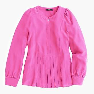J.Crew Silk pleated popover