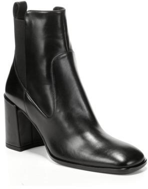 Women's Via Spiga Delaney Block Heel Bootie $350 thestylecure.com