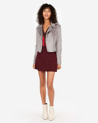 Express High Waisted Clean Front A-Line Mini Skirt