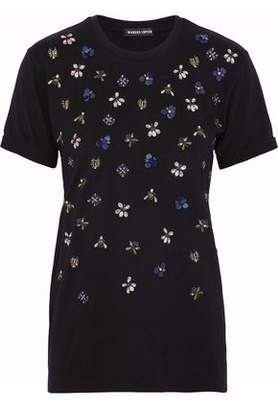 Markus Lupfer Embellished Cotton-Jersey Top