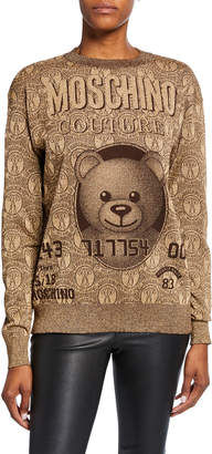 Moschino Shiny Couture Teddy Logo Sweater