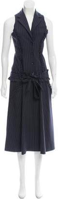 Marissa Webb Sleeveless Pinstripe Midi Dress