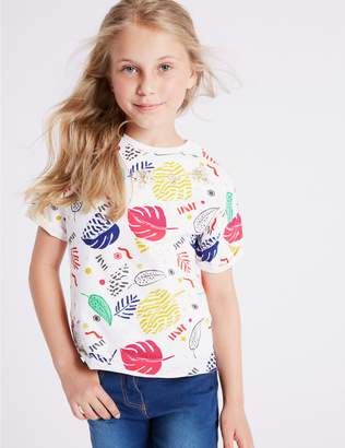 Marks and Spencer Pure Cotton Graphic T-Shirt (3-16 Years)