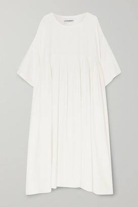 L.F.Markey Mega Oversized Pleated Slub Linen Dress