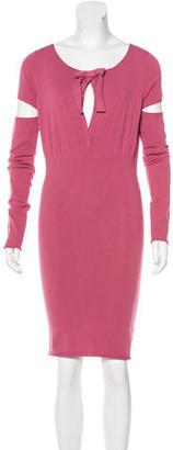 Twin.Set Knit Cutout Sleeve Dress $85 thestylecure.com