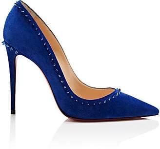 Christian Louboutin Women's Anjalina Suede Pumps - Azulejo, Metal blue