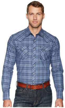 Wrangler Retro Long Sleeve Two-Pocket Snap Plaid Men's Clothing