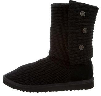 UGG Australia Woven Fold-Over Boots $90 thestylecure.com