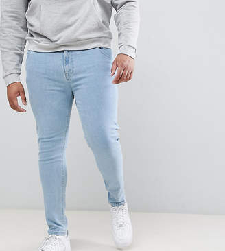 Asos DESIGN Plus super skinny jeans in bleach wash