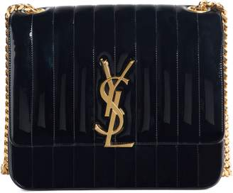 Saint Laurent Large Vicky Patent Leather Crossbody Bag