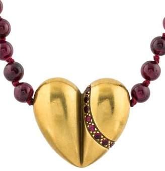 Kieselstein-Cord 18K Ruby, Sapphire & Garnet Bead Necklace