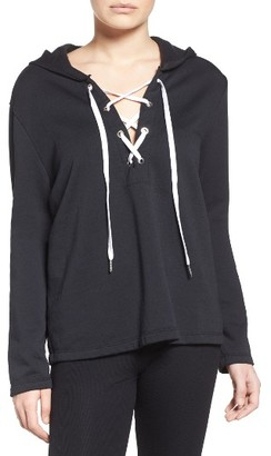 Women's The Laundry Room Lace-Up Hoodie $112 thestylecure.com