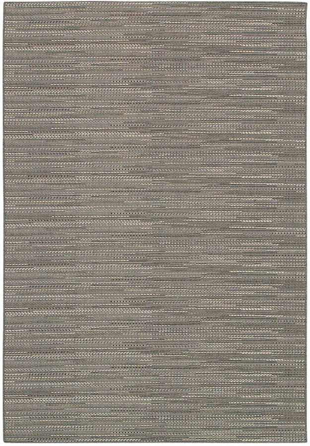 "Couristan Couristan Indoor/Outdoor Runner Rug, Monaco 2471/2044 Larvotto Grey-Multi 2'3"" x 11'9"""