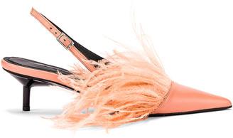 Marques Almeida Marques ' Almeida Feather Slingback in Pink | FWRD