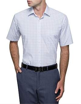 Van Heusen 2 Colour Check Short Sleeve Classic Fit Shirt
