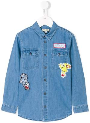 Kenzo flyer patch denim shirt
