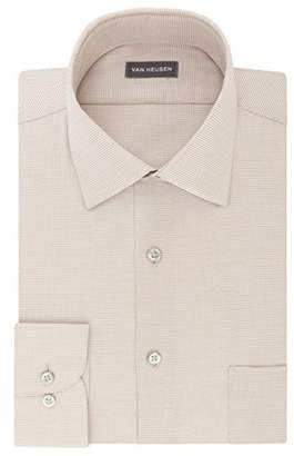 Van Heusen Mens Dress Shirts Regular Fit Micro Houndstooth Spread Collar