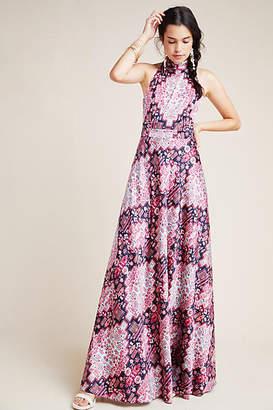 Nicole Miller Serena Halter Maxi Dress