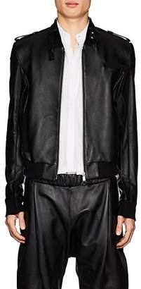 Helmut Lang Seen By Shayne Oliver Men's Lambskin Bomber Jacket