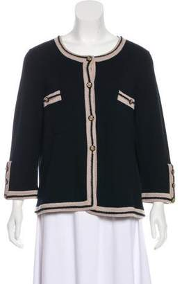 Chanel Cashmere Crew Neck Cardigan