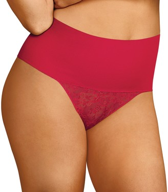 606fe7369afc Maidenform Women's Tame Your Tummy Lace Thong DM0049
