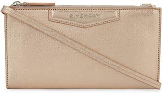 Givenchy Antigona metallic leather wallet-on-chain