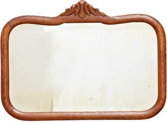 Rejuvenation Beveled Mirror w/ Carved Oak Frame