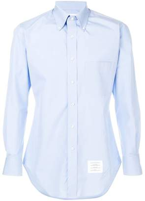 Thom Browne Classic Long Sleeve Solid Poplin Dress Shirt