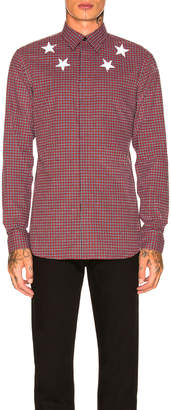 Givenchy Plaid Shirt in Red | FWRD