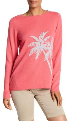 Tommy Bahama Island Cashmere Palm Print Sweater