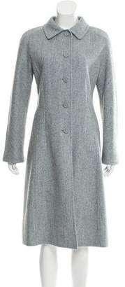 Oscar de la Renta Mélange Wool-Blend Coat