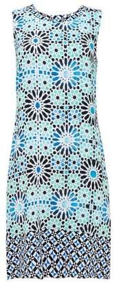 Wallis Turquoise Tile Print Shift Dress