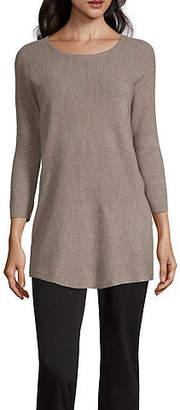 WORTHINGTON Worthington Long Sleeve Scoop Neck Pullover Sweater