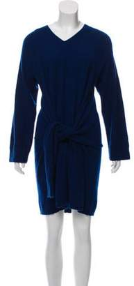 Creatures of Comfort Cashmere Mini Dress Blue Cashmere Mini Dress